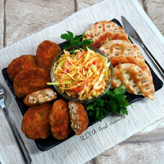 KOTLETY Z KURCZAKA Z PIECZARKAMI I MOZZARELLĄ | rita food channel