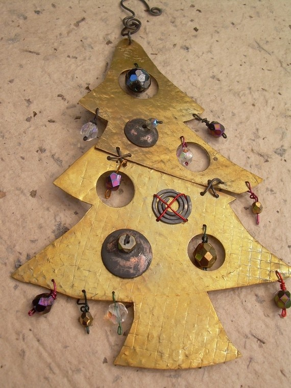 try in clay with bead ornaments?