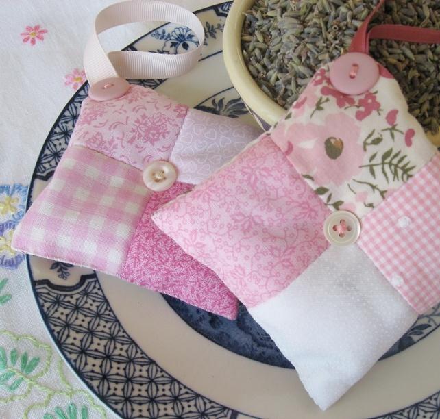 Patchwork Lavender Bags - Folksy