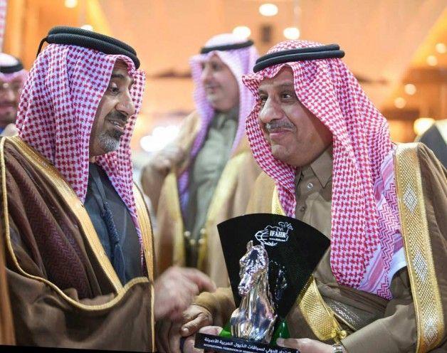 الاتحاد الدولي لسباقت الخيل العربية افهار يكرم الأمير خالد بن سلطان Arabian Horse Captain Hat Fashion