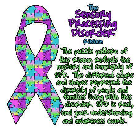 Special Needs Sensory Processing Disorder Ribbon
