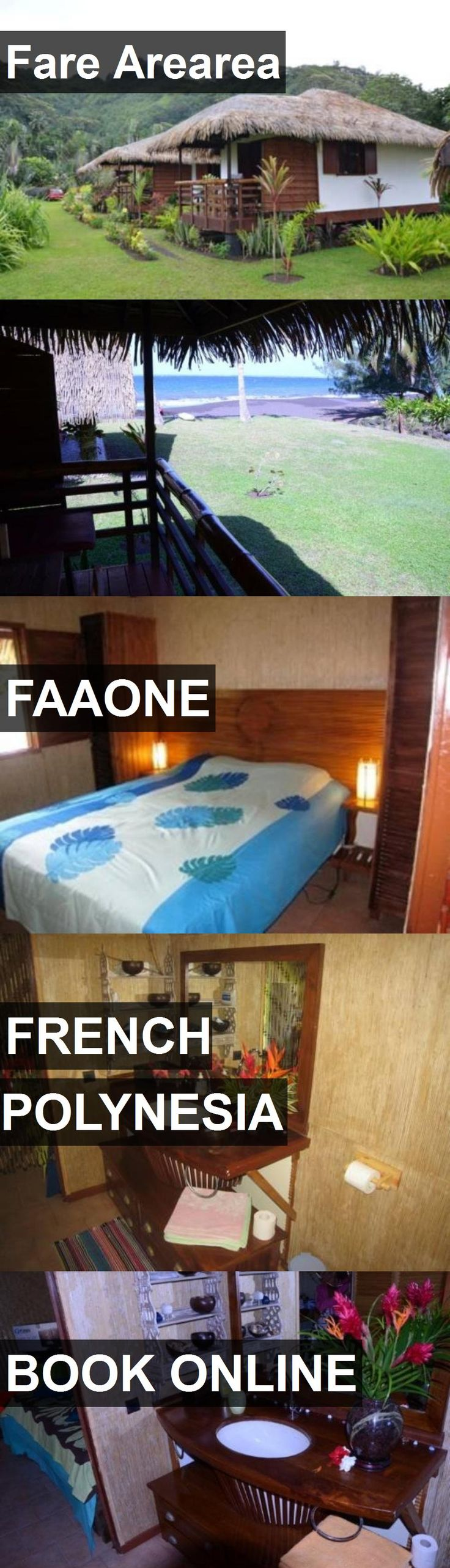 Hotel Fare Arearea in Faaone, French Polynesia. For more information, photos, reviews and best prices please follow the link. #FrenchPolynesia #Faaone #travel #vacation #hotel