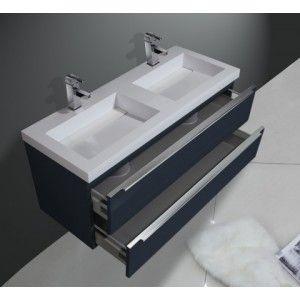 Gezien op Beslist.nl: Olympus Ocean 120 cm Antraciet badmeubelset badkamermeubel