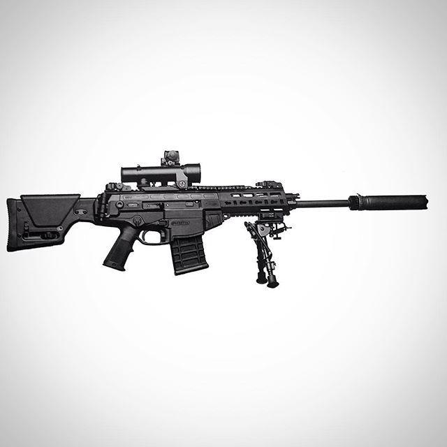 Beretta ARX200 designated marksman rifle with Steiner Intelligent Combat Sight (ICS). #steiner#beretta#opitcs#badass#igmilitia#shooting#rifle#ARX#black#rifles#Passion#NotihingEscapesYou