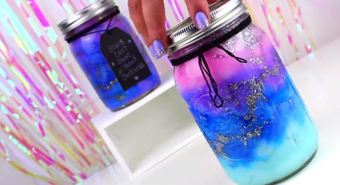 diy Galaxy in a jar Ps saw this video