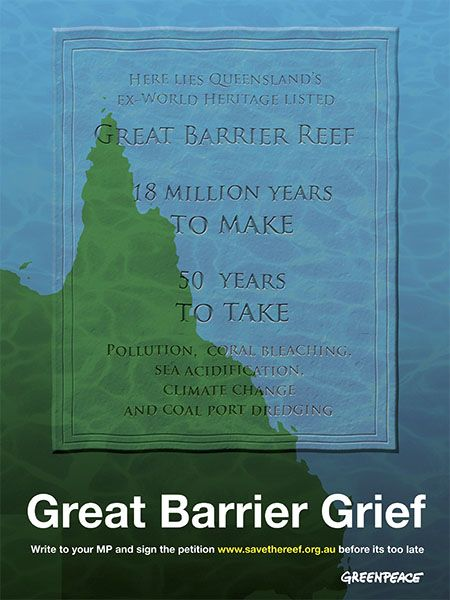 Future Friendly Design: Great Barrier Grief Poster