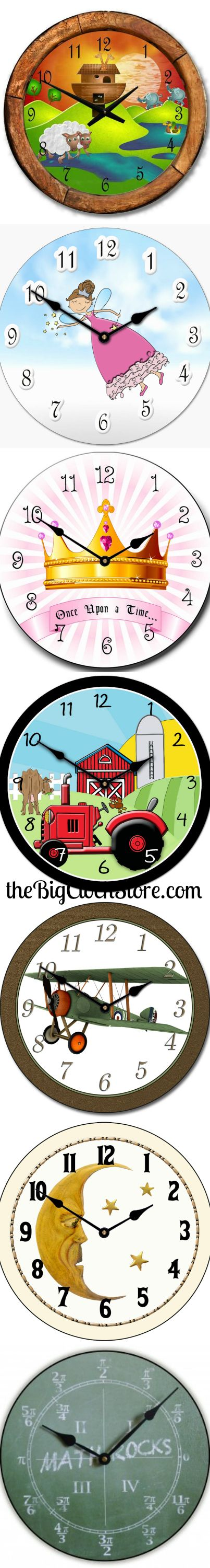 28 best kids clocks images on pinterest 3 years large walls and play up your kids room with unique wall clock purchase anything from a pretty in pink bow to a sports clock we have complete collection of kids clocks amipublicfo Images