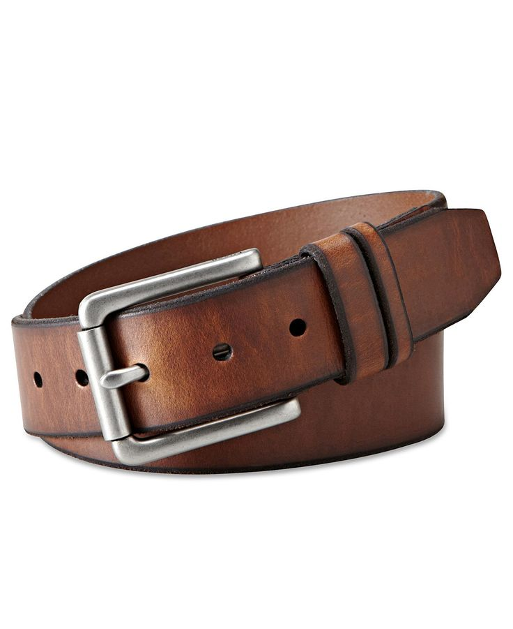 Fossil Belt, Godfrey Single Prong Belt - Mens Belts, Wallets & Accessories - Macy's