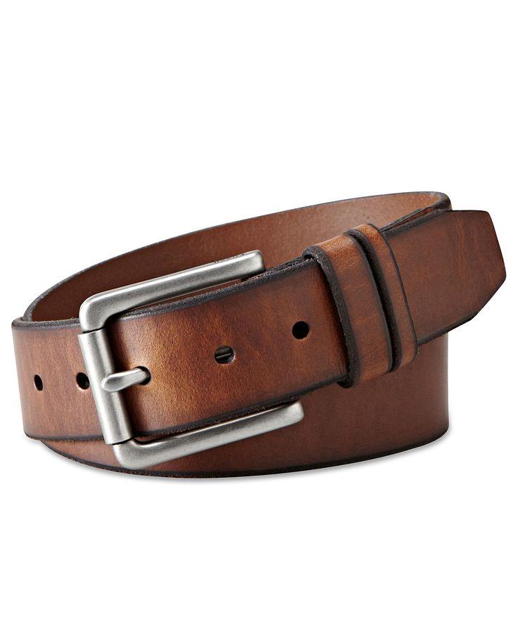 Fossil Belt, Godfrey Single Prong Belt - Mens Belts, Wallets & Accessories - Macy's