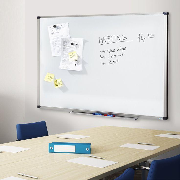 Tableau blanc Office Marshal® série PRO   tailles au choix   usage professionnel - surface laquée aimantée   cadre en aluminium, 60x90cm: Amazon.fr: Bricolage