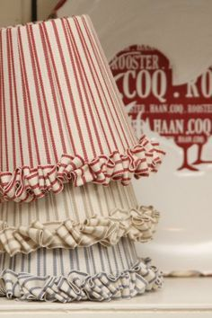 Beautiful ribbon wrapped lampshades - many different styles
