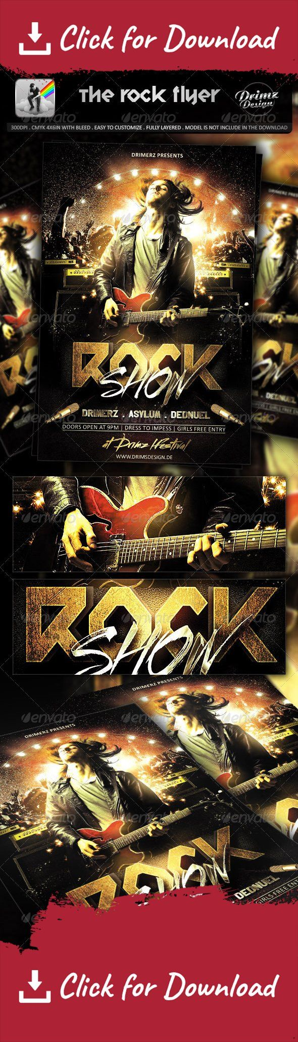 """club, drimerz, fest, festival, flyer, glow, glowing, guitar, guitarist, lamp, light, loud, music, night, rock, shine, shiny, stage, yard NEW RELEASES TEXT STYLES     NEW RELEASES MIXTAPES      CHECK OUT MY PORTFOLIO      a rock style flyer. perfect for your event.   CMYK, 300DPI, 4×6"""" with 0.25"""" bleed, easy to customize, fully layered.   this flyer used :   Street Brush   http://www.myfonts.com/fonts/robarnow/streetbrush/  Calibri   http://www.fonts.com/font/microso..."""