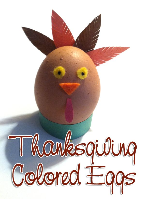 Thanksgiving Craft: Thanksgiving Colored Eggs
