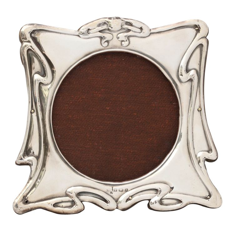 Art Nouveau Sterling Silver Picture Frame | Silver picture frames ...