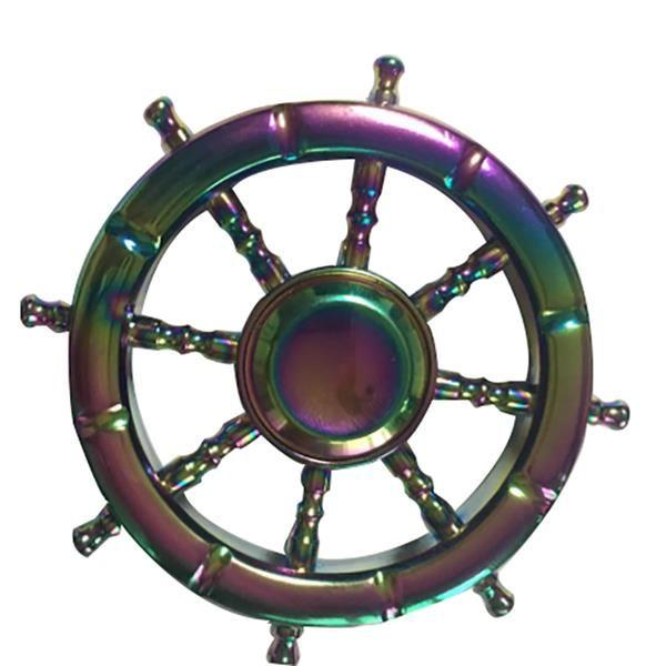 ECUBEE EDC Fidget Spinner Rainbow Steel Ball Bearing Hand Spinner Gadget