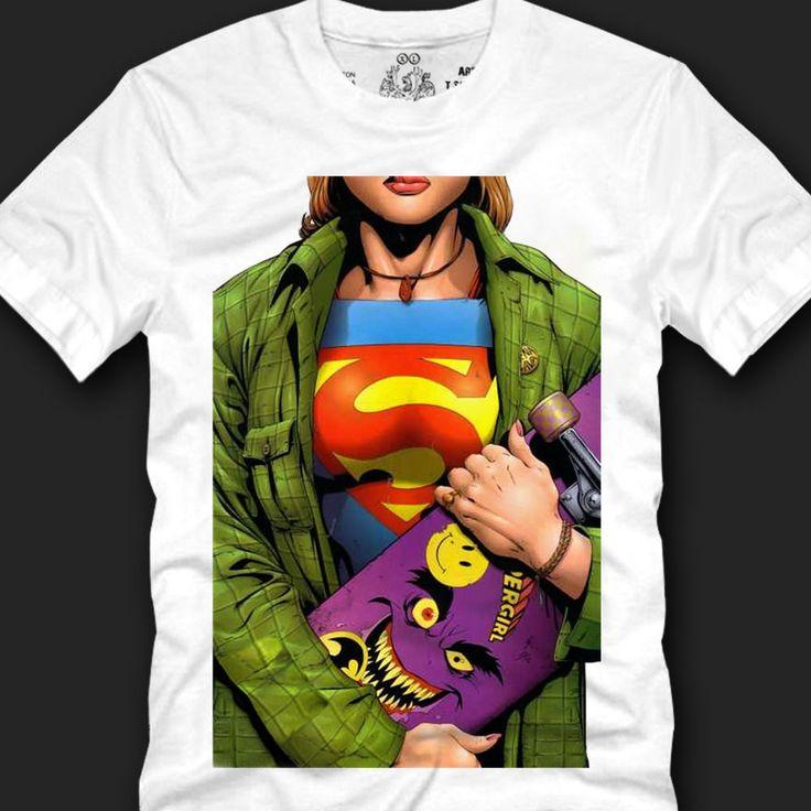 Men's T- shirts Trendy Look Unique Fashionable Cotton, supergirl skateboard copy #Koreanleadingfashiontrends #GraphicTee