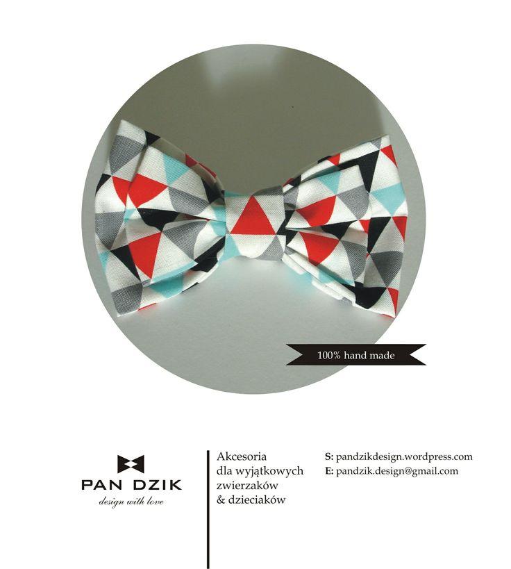 Ręcznie robiona mucha zaprojektowana specjalnie w wersji dla zwierzaków i dla dzieciaków :) bow tie, 100% hand made , designed by Pan Dzik