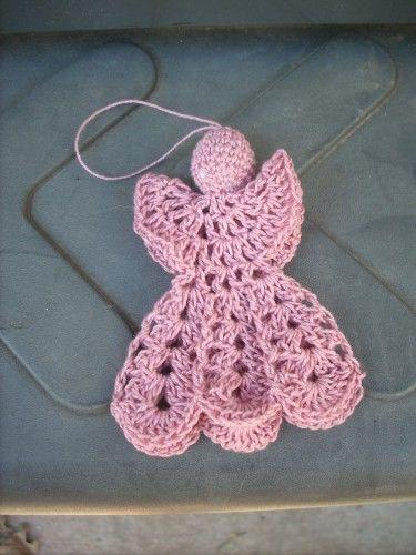 crochet angel   Crochet Angel Magnet   BarbsMacrameandMore - Crochet on ArtFire