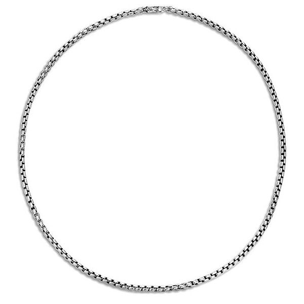 John Hardy Classic Chain Silver Box Necklace (€385) ❤ liked on Polyvore featuring men's fashion, men's jewelry, men's necklaces, mens silver chain necklace, mens chain necklace, john hardy mens necklaces and mens silver necklace