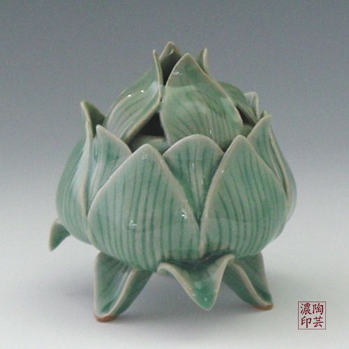 Lotus Flower Ceramic Incense Burners Cone Incense Burner