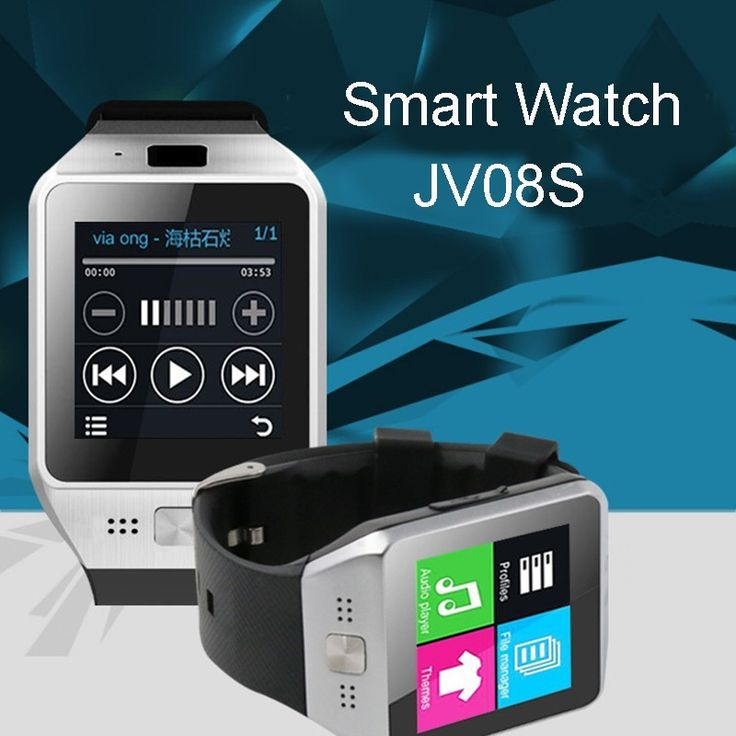 Bluetooth Smartwatch Tragbares Gerät JV08S Smart uhr Für Android IOS Samsung iphone Sony Telefon Smartphone GSM Sim-karte //Price: $US $37.77 & FREE Shipping //     #clknetwork