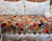 """cool """"puffy"""" quilt from old socks!"""