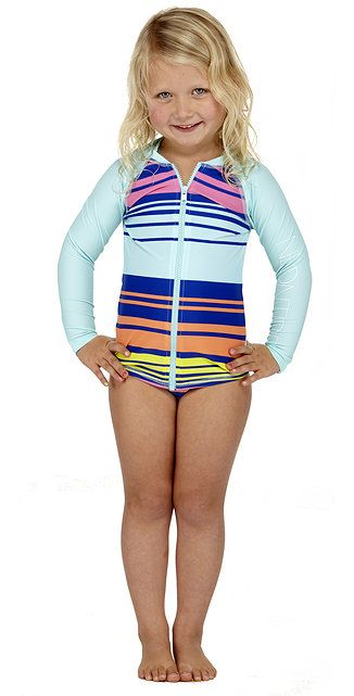 Petites Toddler Girls Long Sleeve Full Zip Rash Guard By