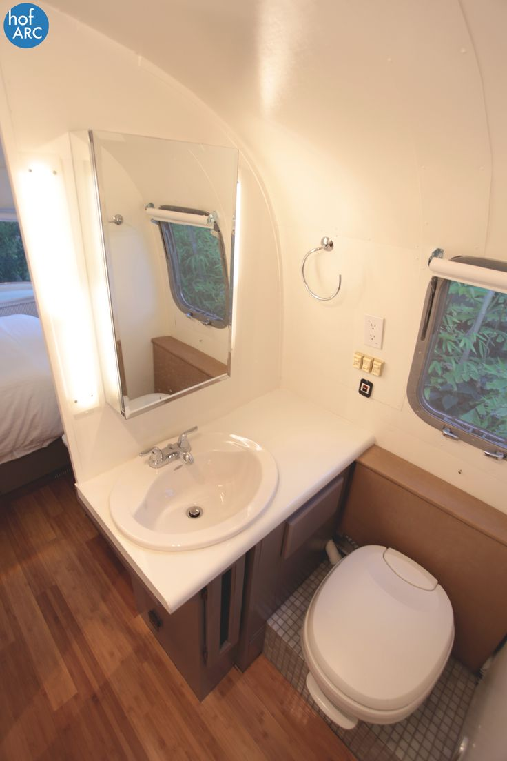 1984 airstream 310 motorhome renovation by hofarc for Bathroom restoration ideas