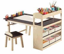 Guidecraft Art Table & Chair: Wish I had the money for this right now! My kids' art supplies are EVERYWHERE, and it would be nice for them to have their own space to be creative!