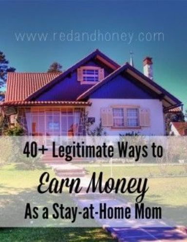 Stay home, and earn money, too! 40+ ideas at redandhoney.com