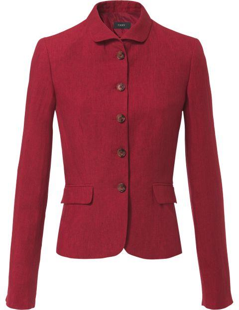 Purdey linnen blazer rood