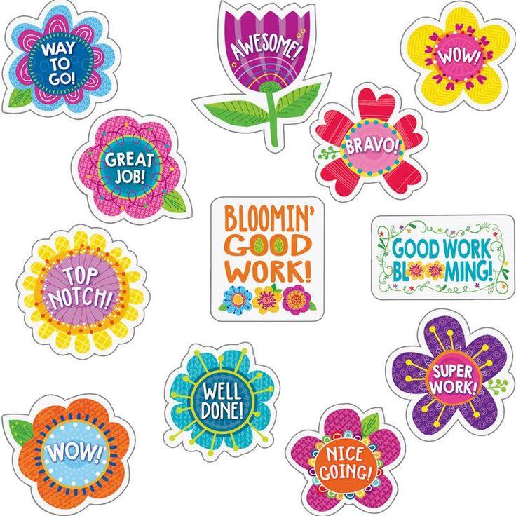 Springtime Blooms Reward Stickers