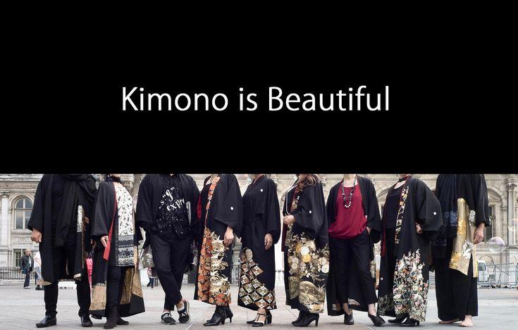 パリで日本の美を伝える公演「無・生・円」を開催。2017年10月、京都なかの孝(株)の留袖着流しコートをアーティストたちが個性的にスタイリングしてパリの街を歩いてみた。