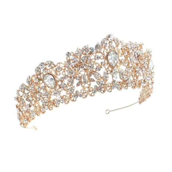 Bridal, Prom, Hen Do Beautiful Tiara With Large Central Stone /& Diamanté Detail