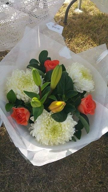 Rose, Chrysanthemum and Lily Bouquet   Price: $40.00 excluding delivery