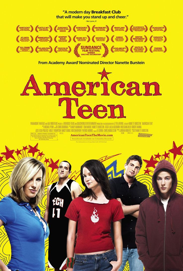 American Teen , starring Hannah Bailey, Jake Tusing, Megan Krizmanich, Colin Clemens. A documentary on seniors at a high school in a small Indiana town and their various cliques. #Documentary