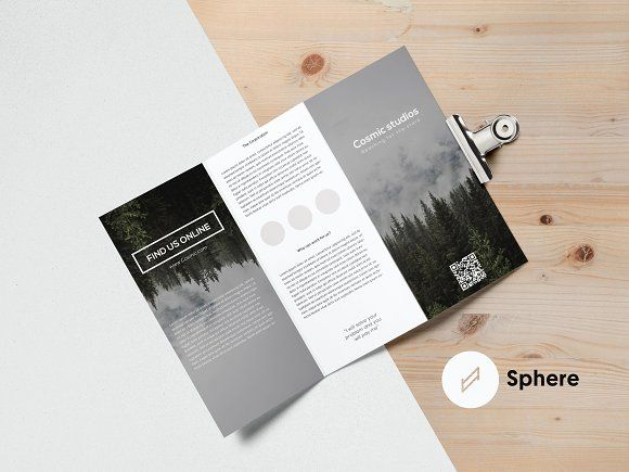 Cosmic Trifold Brochure Template by Sphere on Creative Market