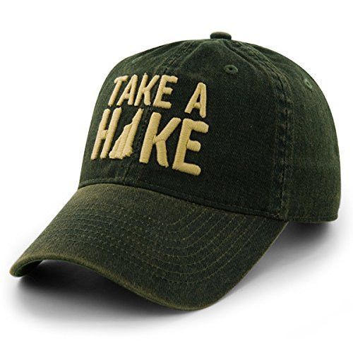Get this amazing Take A Hike cap, super soft, high quality garment washed cap. An amazing cap for those that love hiking.