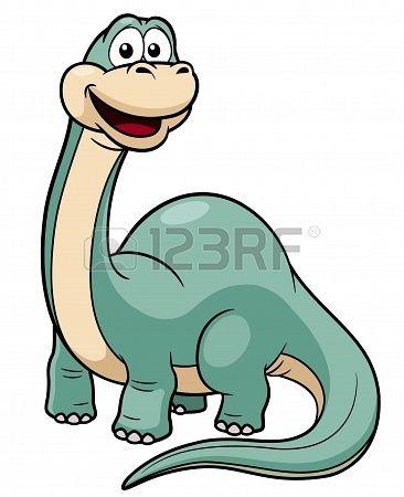 illustratie van het beeldverhaal dinosaurus vector Stockfoto - 18026180