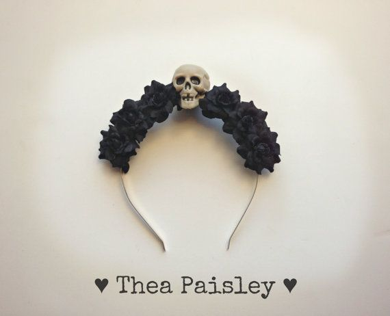 Hey, I found this really awesome Etsy listing at https://www.etsy.com/listing/173515268/flower-halo-flower-crown-black-halo