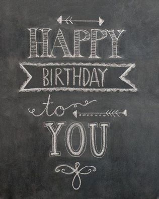 happy birthday chalkboard: