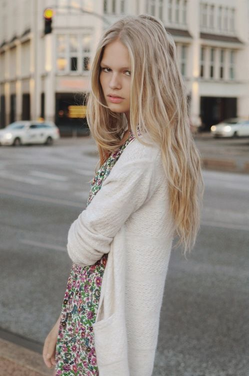 Anna Ewers By Karl Lagerfeld For: Tea Dresses, Hair And Anna