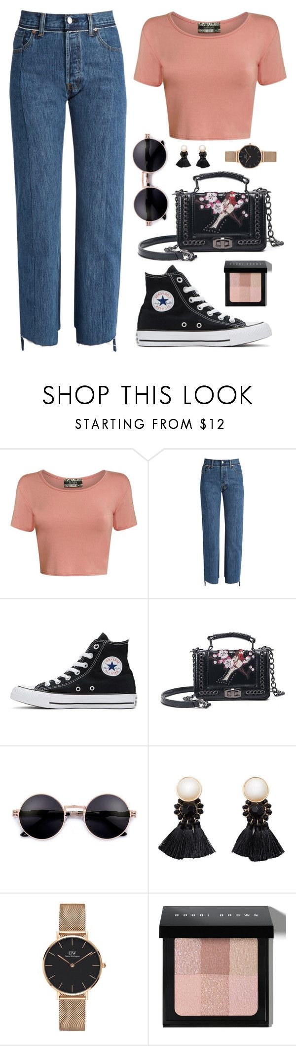 """Woozi X Exploring Osaka"" by jleeoutfitters ❤ liked on Polyvore featuring Pilot, Vetements, Converse, Violeta by Mango, Daniel Wellington and Bobbi Brown Cosmetics"