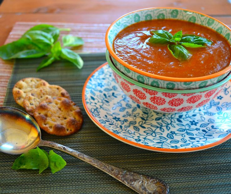 Creamy, and tangy roasted eggplant and tomato soup. Great Paleo, vegan ...