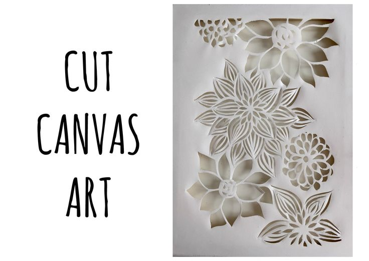 Cut Canvas Art: cos'è e come si fa!!! (Creatività-tecniche artistiche) A...