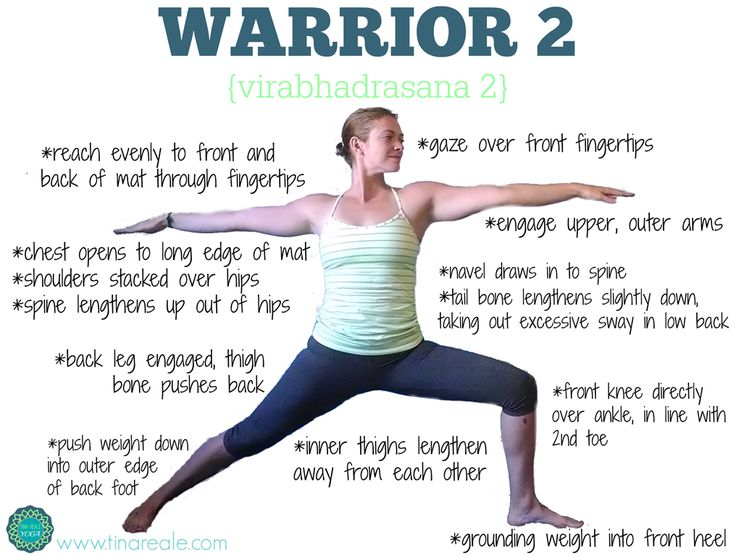 Warrior 2 yoga pose helps to open the lungs