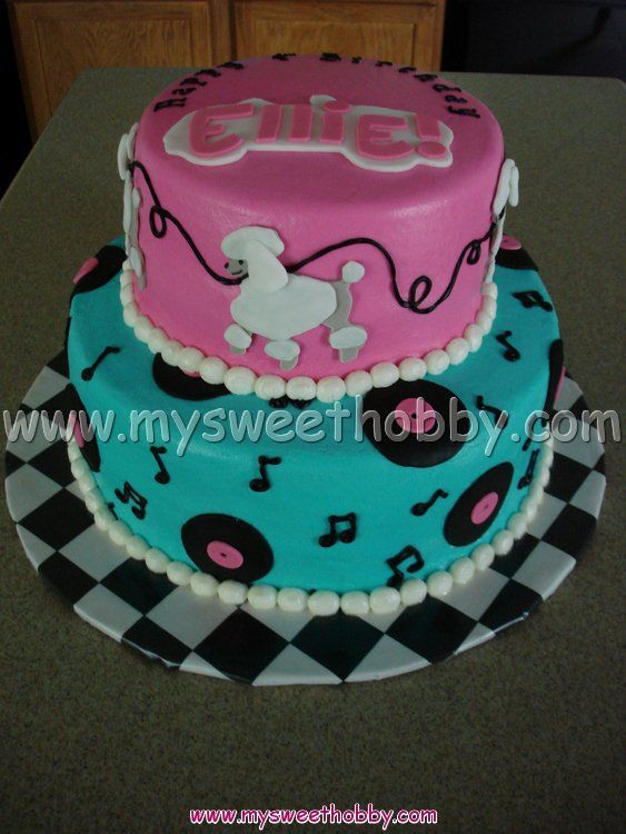 the 50's themed | Grease / 50's Themed Cake