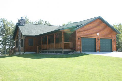 10 best images about log home cabin exteriors on for Log cabin style garages