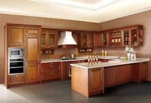 classical style solid wood kitchen cabinet
