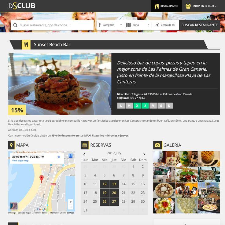 dsclub.es Web especializada en descuentos en restaurantes. Esta Web se adapta a todos los dispositivos, gracias a su sistema Responsive Web Design. #web_design #web #paginas_web #web_las_palmas #web_canarias #paginas_web_las_palmas #paginas_web_canariasempresa